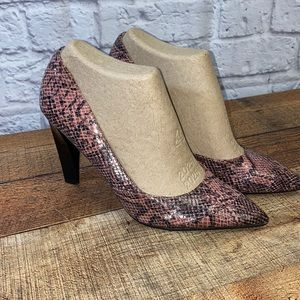 Snake Print Cut Out Pumps High Heel Mossimo 9